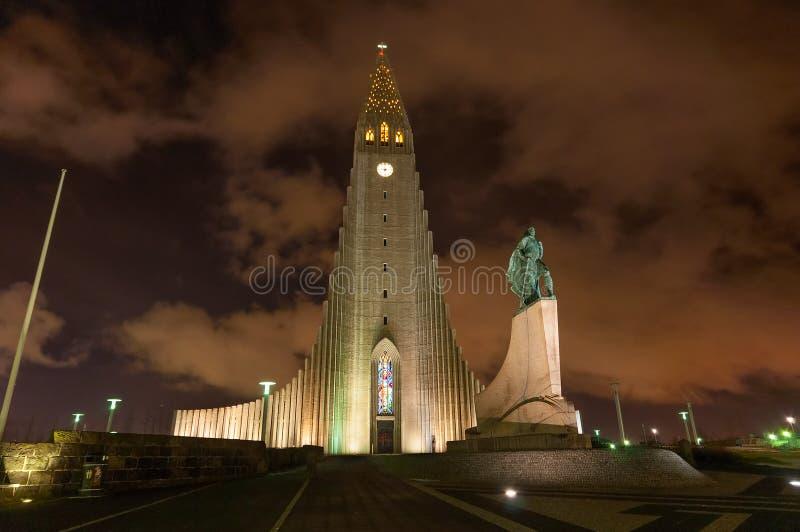 Iglesia Reykjavik Islandia de Hallgrimskirkja imágenes de archivo libres de regalías