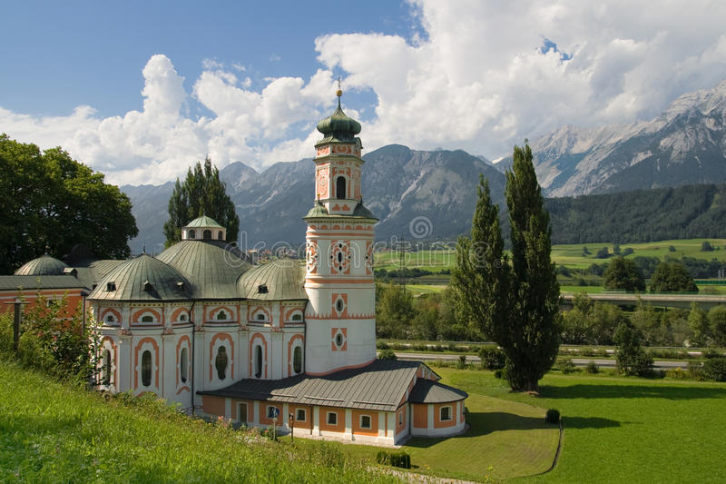Iglesia rococó en Austria fotografía de archivo