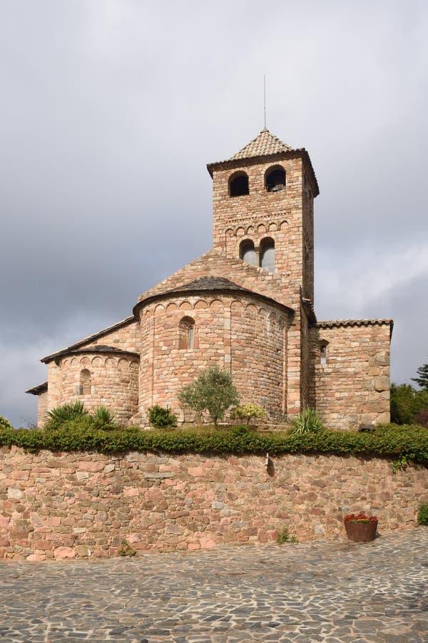 Iglesia Románica de Sant Vicens, provincia de Espinelves, Girona, C fotos de archivo libres de regalías