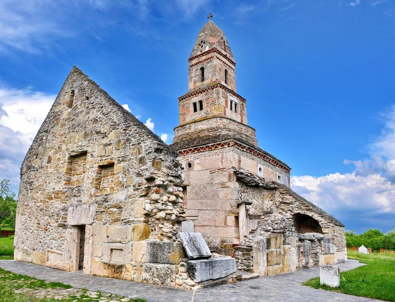 Iglesia Rumania de Densus fotografía de archivo