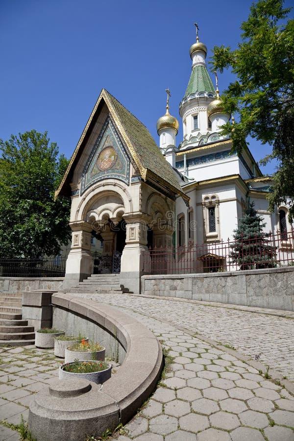 Iglesia rusa en Sofía, Bulgaria fotografía de archivo libre de regalías