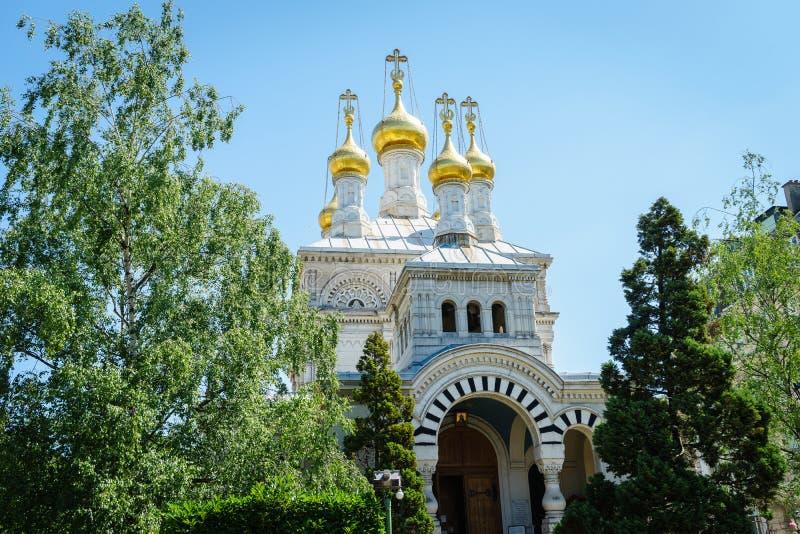 Iglesia rusa, Ginebra, Suiza imagen de archivo libre de regalías
