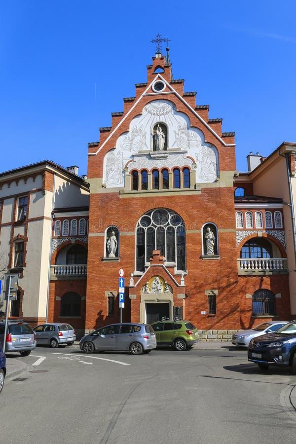 Iglesia sagrada de las hermanas del corazón en Kraków, Polonia imagen de archivo libre de regalías