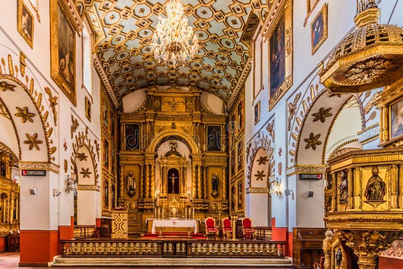 Iglesia San Agustin La Candelaria Bogota Colombia immagini stock