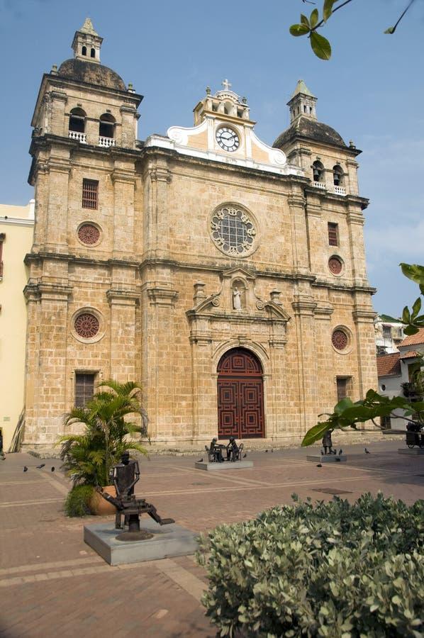 Iglesia San Pedro Claver Cartagena fotos de stock