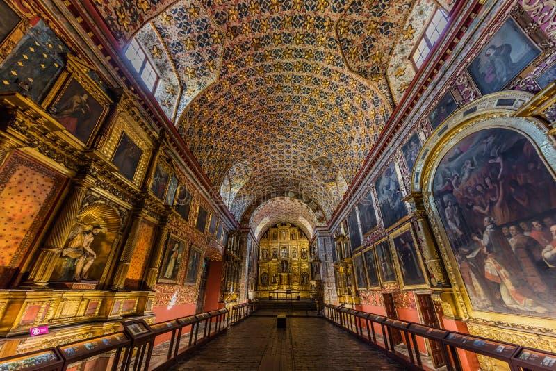 Iglesia Santa Clara La Candelaria Bogota Colombia imagem de stock royalty free