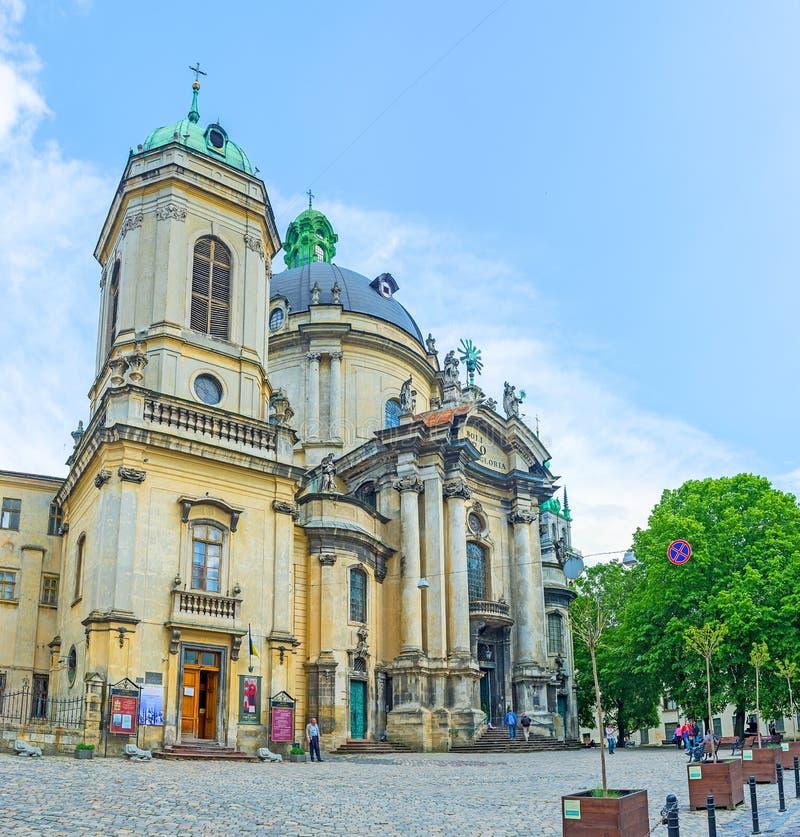 Iglesia santa de la eucaristía de Lvov fotos de archivo libres de regalías