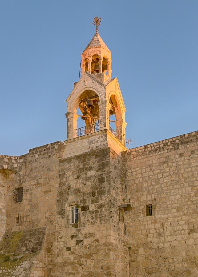 Iglesia santa del campanario de la natividad, Belén, Israel foto de archivo libre de regalías