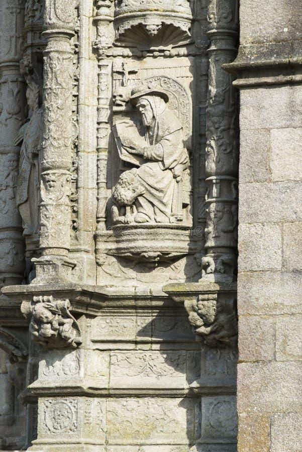 Iglesia Santa Maria La Mayor en Pontevedra España fotografía de archivo libre de regalías