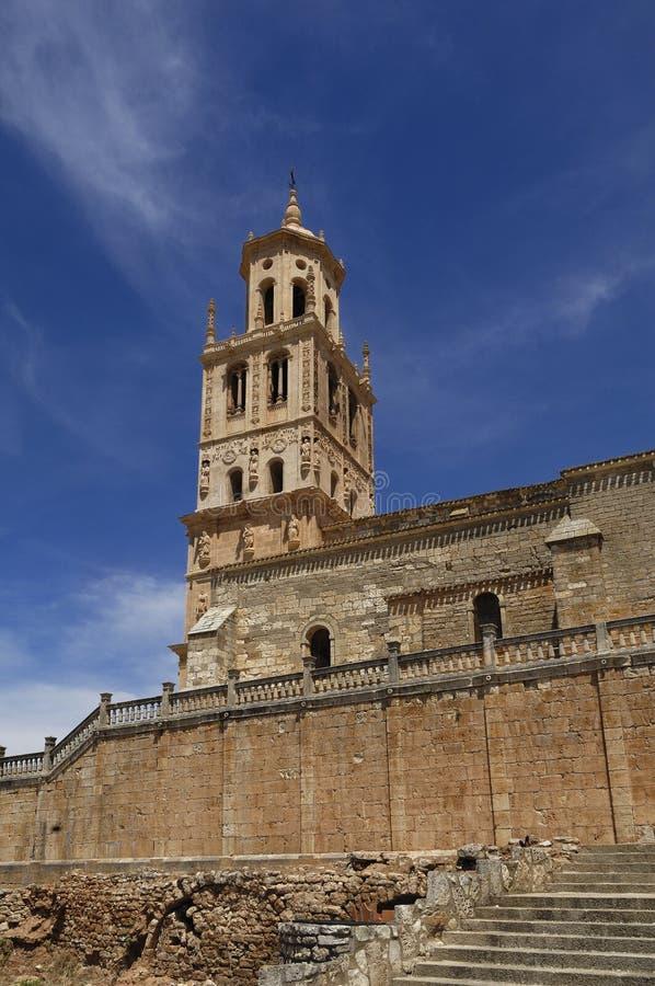 Iglesia, señora de la suposición, Santa Maria del Campo Burgos favorable imágenes de archivo libres de regalías