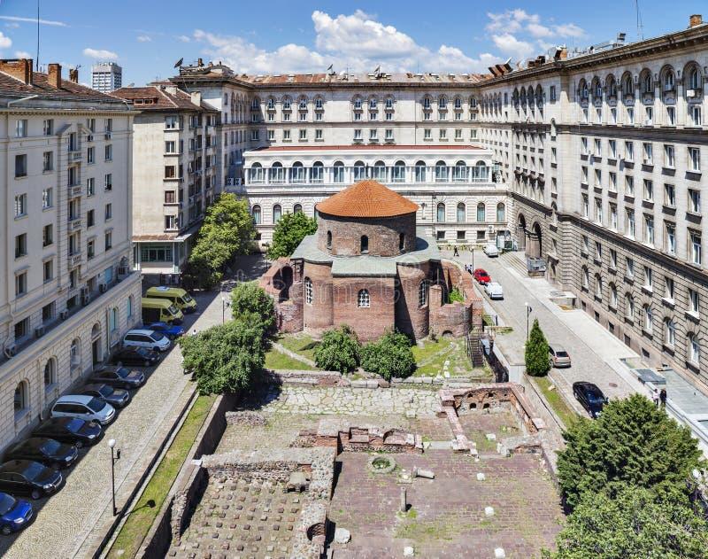 Iglesia Sofia Bulgaria del St George Rotunda fotografía de archivo