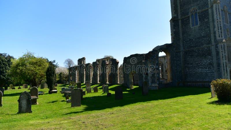 Iglesia St Andrew, Walberswick Reino Unido de las ruinas, foto de archivo libre de regalías