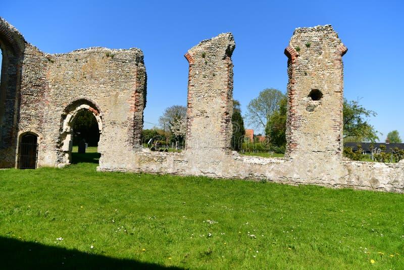 Iglesia St Andrew, Walberswick Reino Unido de las ruinas, imagen de archivo
