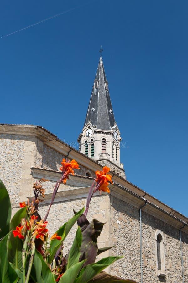 Iglesia Tournon en Francia imágenes de archivo libres de regalías