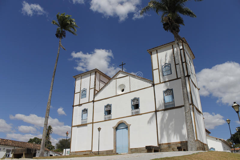 Iglesia tradicional Pirenopolis imagen de archivo