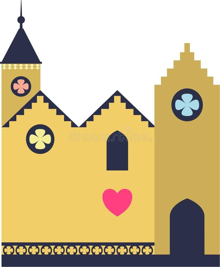Iglesia un lugar del amor ilustración del vector