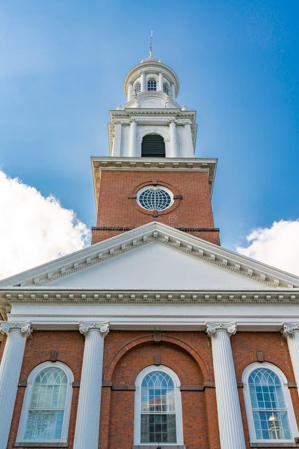 Iglesia unida en el verde, New Haven fotografía de archivo libre de regalías