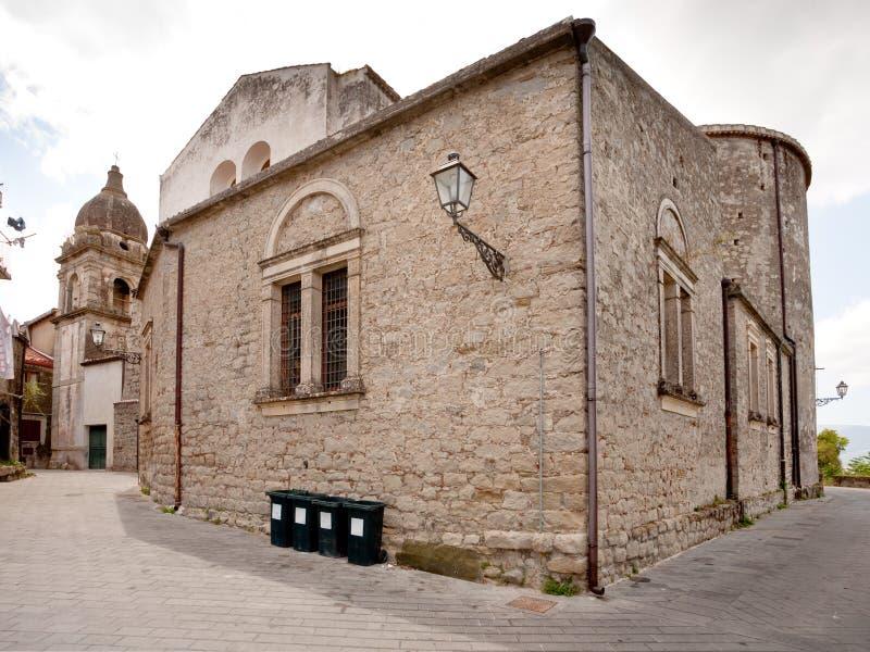Iglesia urbana en Castiglione di Sicilia, Italia fotos de archivo libres de regalías