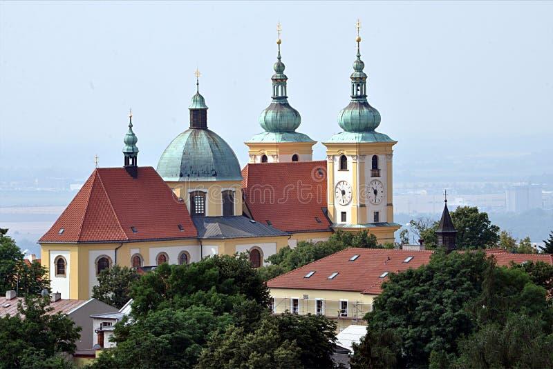 Iglesia vieja, ciudad Olomouc, República Checa, Europa imagenes de archivo