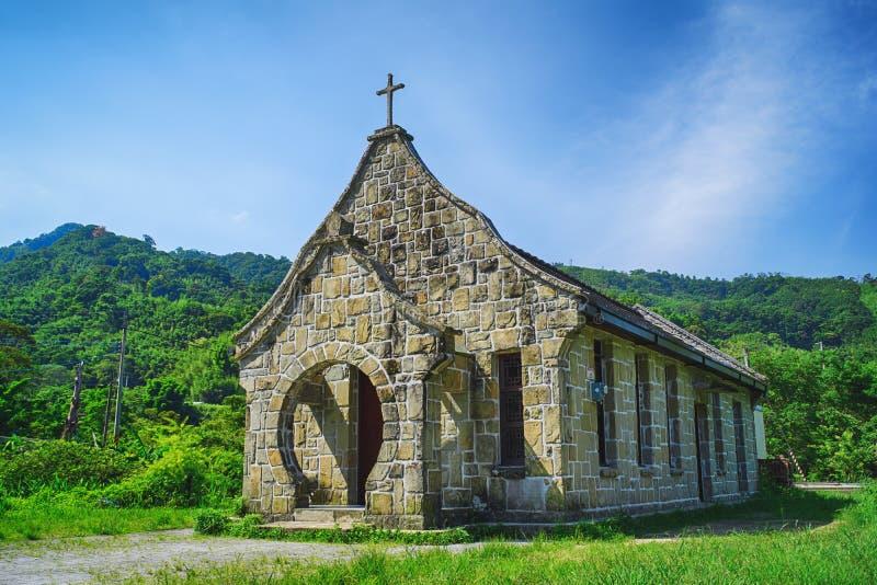 Iglesia vieja de Jiguopai y x28; Church& x29 de la TUBA; en el distrito de Fuxing, Taoyuan, Taiwán fotografía de archivo libre de regalías