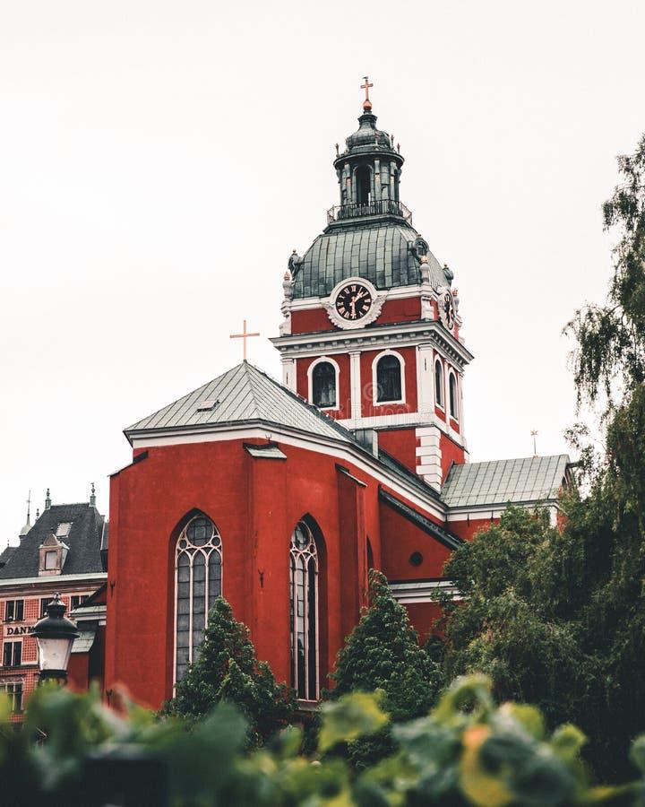 Iglesia vieja en Estocolmo central imagen de archivo libre de regalías