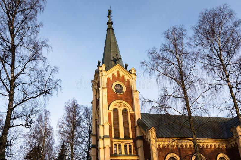 Iglesia vieja en la luz de la mañana imagen de archivo