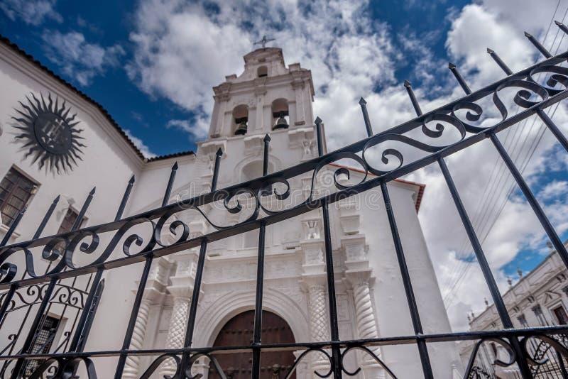 Iglesia vieja en le Sucre, Bolivia imagen de archivo