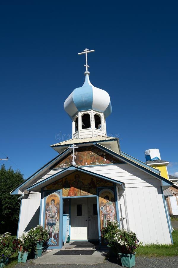 Iglesia vieja rusa de los creyentes en Nikolaevsk fotografía de archivo libre de regalías