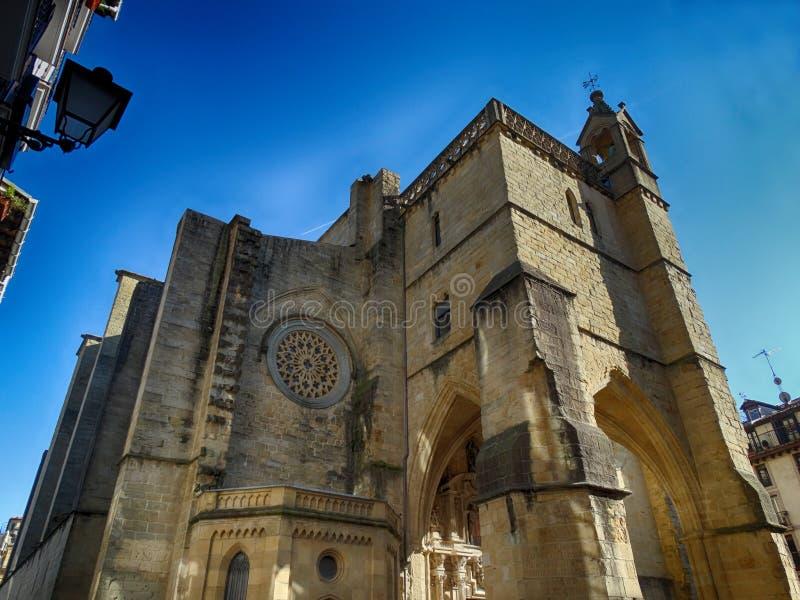 Iglesia vieja San Sebastian Donostia Spain Amazing City España del norte foto de archivo