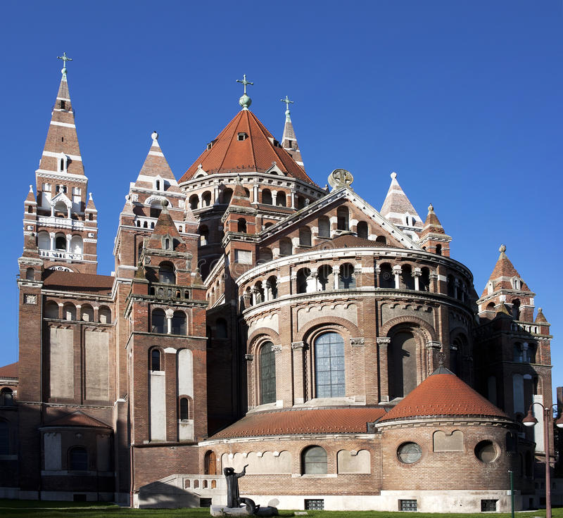 Iglesia votiva en Szeged foto de archivo libre de regalías