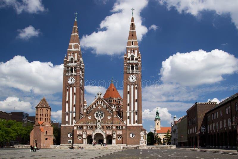 Iglesia votiva en Szeged fotos de archivo libres de regalías