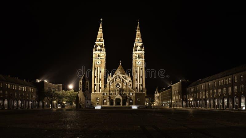 Iglesia votiva en Szeged imagen de archivo libre de regalías