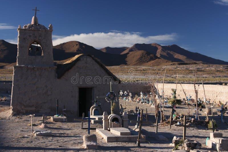 Iglesia y cementerio de San Juan fotografía de archivo libre de regalías
