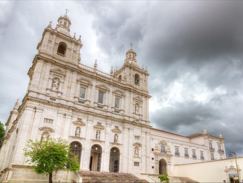 Iglesia y claustro Sao Vicente de Fora Lisboa imagenes de archivo