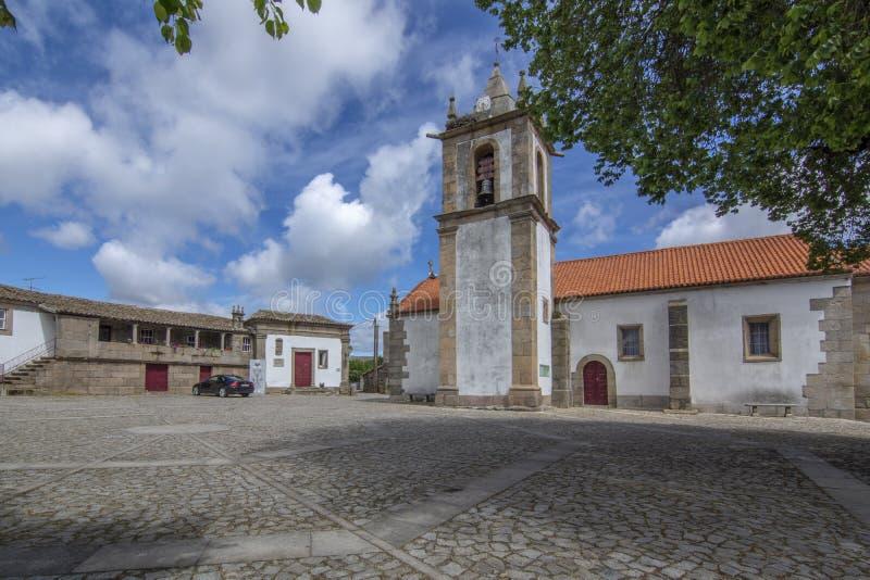 Iglesia y jefaturas de Lord Wellington en Freineda, Portugal foto de archivo