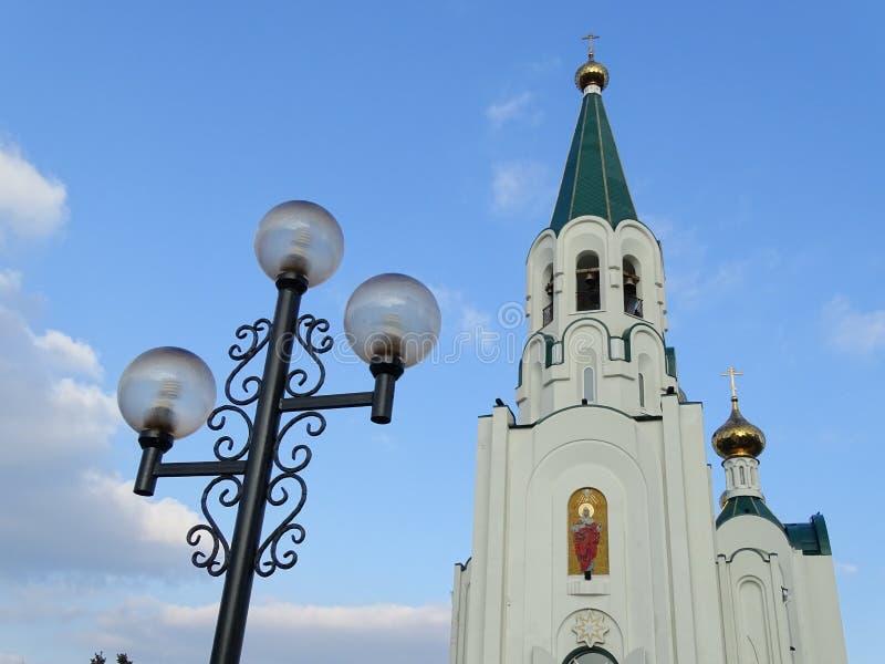 Iglesia y linterna de la ortodoxia fotos de archivo