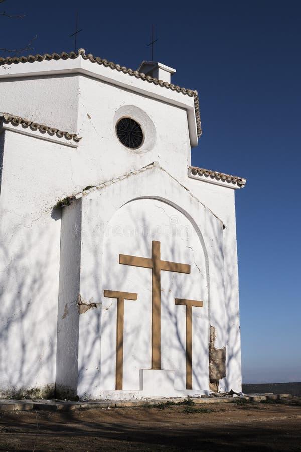 Iglesia y sombras imagenes de archivo