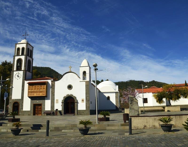 Iglesiakerk DE San Fernando Rey 1679 in Santiago del Teide, Tenerife, Canarische Eilanden, Spanje royalty-vrije stock fotografie