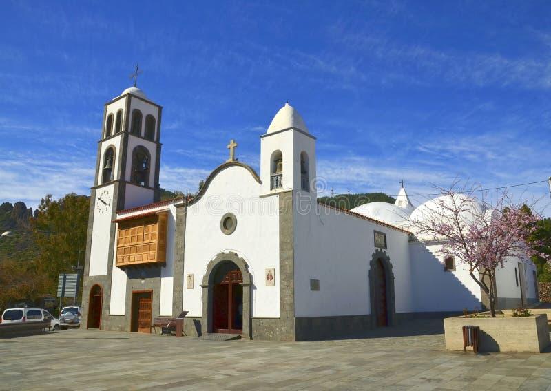Iglesiakerk DE San Fernando Rey 1679 in Santiago del Teide, Tenerife, Canarische Eilanden, Spanje stock fotografie