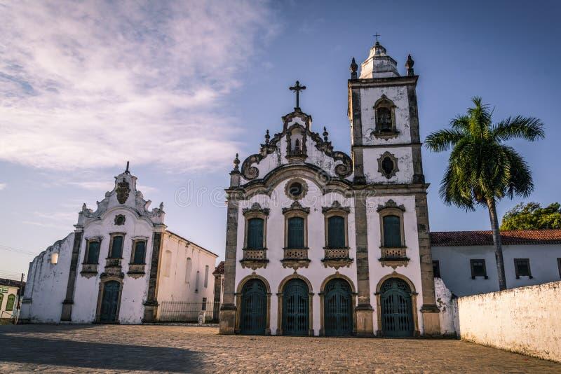 Iglesias barrocas, Marechal Deodoro, Maceio, Alagoas, el Brasil imagenes de archivo