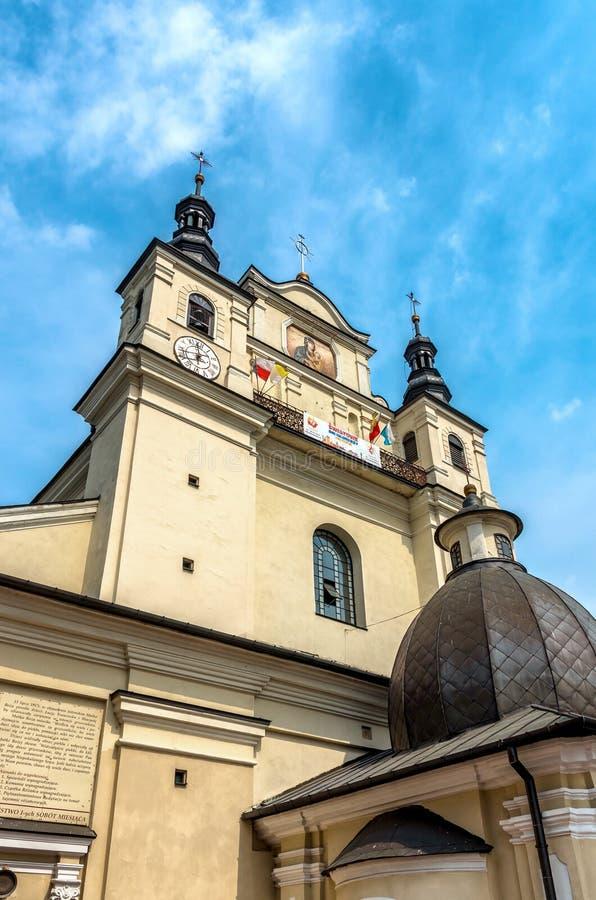 Iglesias de Polonia - Janow Lubelski foto de archivo