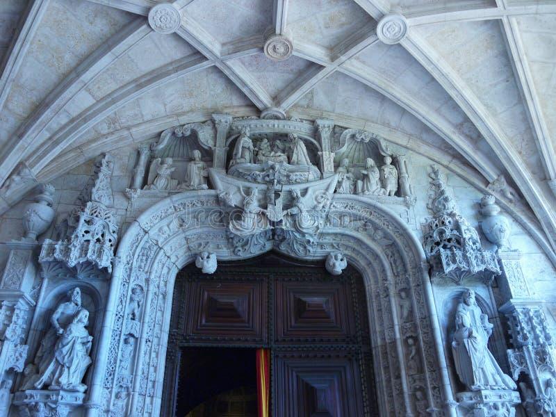 Iglesias de Portugal, Lisboa, monasterio de Jeronimos imagen de archivo libre de regalías