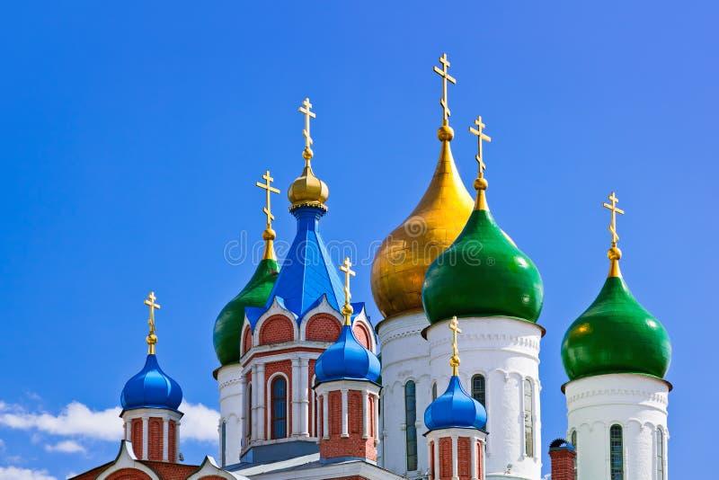 Iglesias en la región de Kolomna el Kremlin - de Moscú - Rusia fotografía de archivo libre de regalías