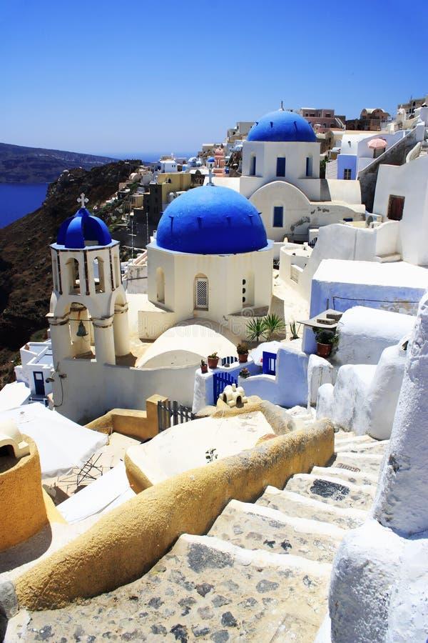 Iglesias en Santorini fotografía de archivo