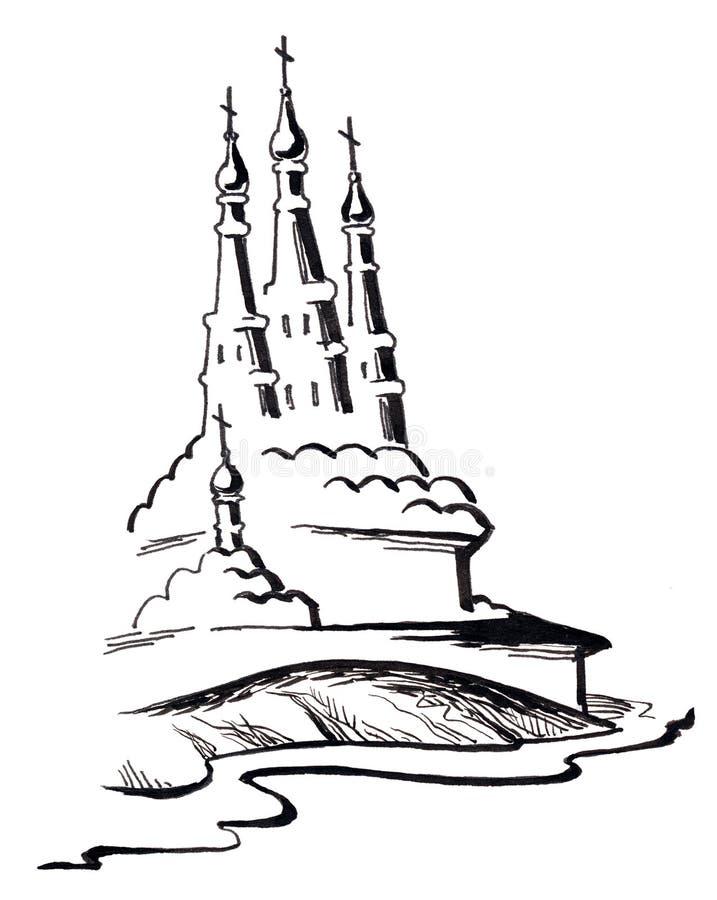 Download Iglesias rusas stock de ilustración. Ilustración de casa - 7287483