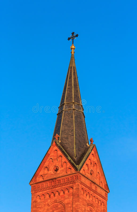 Iglica bazylika w Seligenstadt, Niemcy zdjęcie royalty free