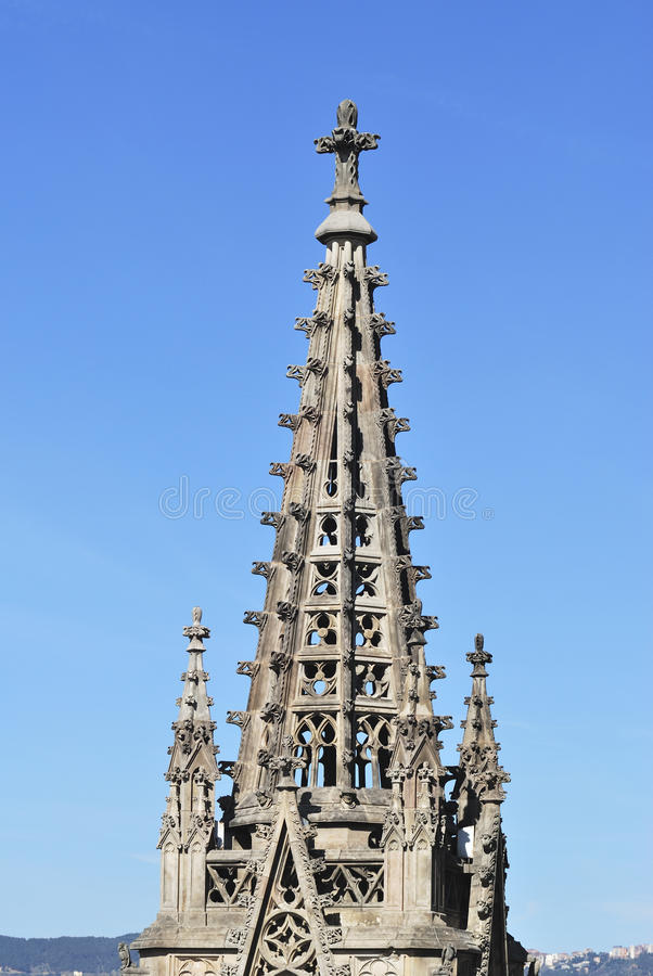 Iglica katedra. Barcelona. Hiszpania fotografia royalty free