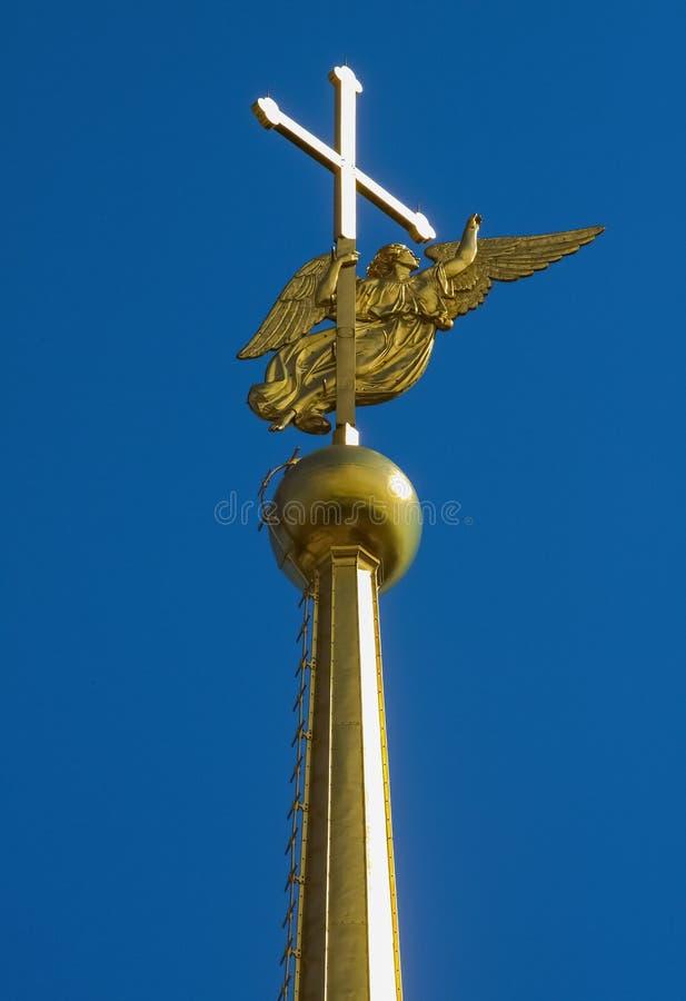 Iglica na Peter i Paul katedrze w St Petersburg zdjęcie stock