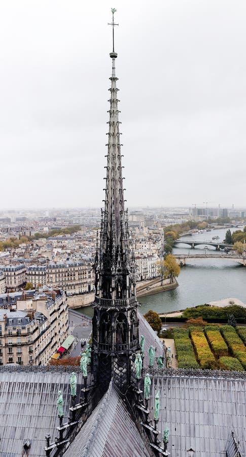 Iglica Notre Damae katedra zdjęcie royalty free