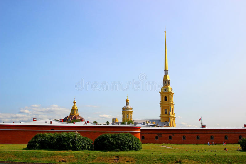 Iglica Peter i Paul forteca w St. Petersburg fotografia stock